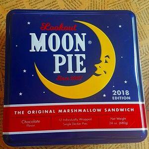 Moon Pie metal tin box 2018 edition collectible